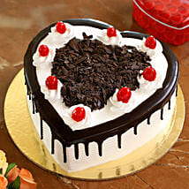 Flakey Hearts Black Forest Cake: