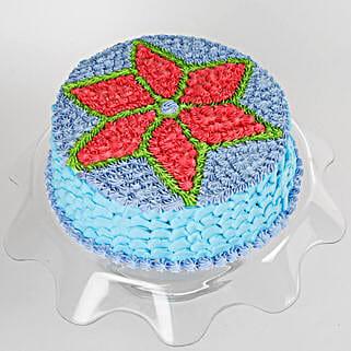 Floral Design Cream Cake: Send Mango Cakes