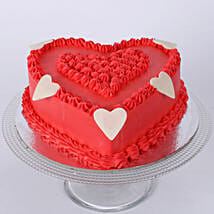 Floral Red Heart Cake: Birthday Cakes to Pune