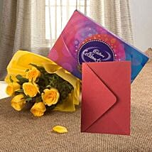 Flower Hamper N Greeting Card: Flowers & Chocolates Indore
