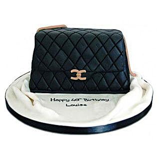Fondant Handbag Cake: Designer cakes for Mothers Day