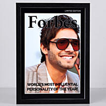 Forbes Special Cover Personalised Frame: Personalised Photo Frames for Friendship Day