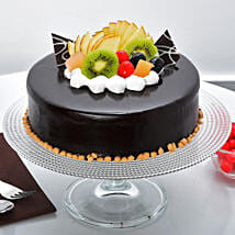 Fruit Chocolate Cake: Cakes to Warangal