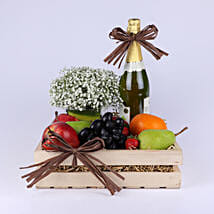 Fruit Filled Tray With Beautiful Gypsophila: Send Eid Gifts