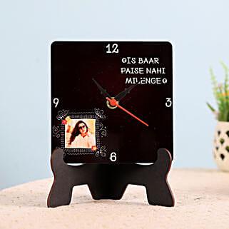Funky Personalised Table Clock: