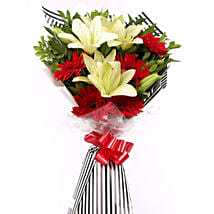 Gerberas Asiatic Lilies Bouquet: Exotic Flowers