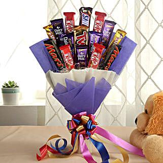 Glistening Choco Bouquet: Chocolate Bouquet for Him