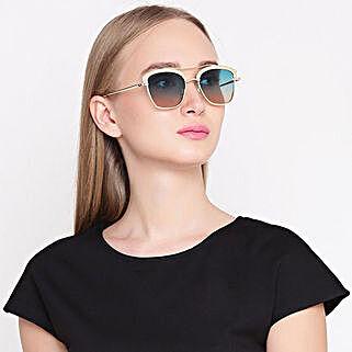 Gold N Green Wayfarer Women Sunglasses: Accessories for Her