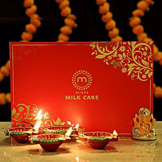 Gold Plated Ganesha Festive Treats: Diwali Gifts for Boss