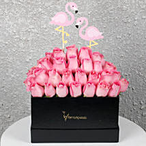 Graceful Pink Roses in a Box: Birthday Gifts for Mother
