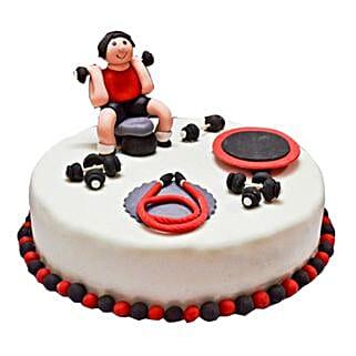 Gym Fondant Cake: Send Designer Cakes