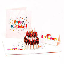 Handmade 3D Pop Up Birthday Cake Greeting Card: Funny Gifts