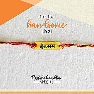 Handsome Bro Quirky Rakhi & Card: Rakhi to Avadi
