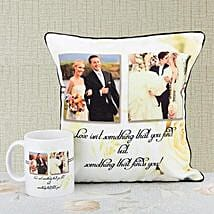 Happliy Ever After Personalized Combo: Personalised Mugs for Wedding