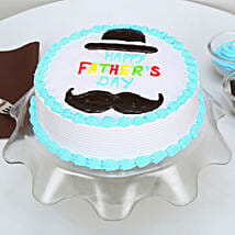 Hat And Moustache Fathers Day Cake: Fathers Day Egg-less Cake