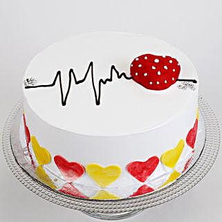 Heart Beat Cake: Wedding Cakes