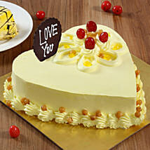 Heart Shaped Butterscotch Cake: Cakes for Propose Day