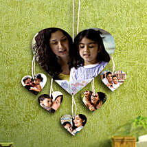 Heartshaped Personalized Wall Hanging: Send Personalised Gifts to Panvel