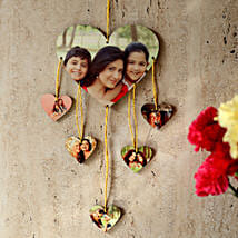 Heartshaped Personalized Wall Hanging: Personalised Gifts Adilabad