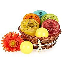 Heavenly Relaxing Soap Hamper: Valentines Day Gift Hampers