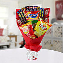 High on Snack Bouquet: Chocolates for birthday