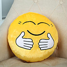 Hugging Smiley Cushion Yellow: Soft Toys Gifts