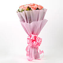 Impressive Pink Roses Bouquet: Send Birthday Gifts to Trichy