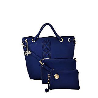 LaFille Elegant Blue Handbag Set: Handbag Gifts
