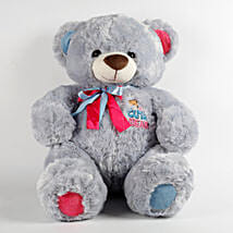 Large Teddy Bear Blue: Send Soft Toys for Kids