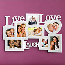 Live Love Laugh: Birthday Personalised Photo Frames