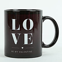 Love Ceramic Black Mug: Send Gifts to Daman