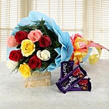 Love Gets Chocolaty: Flowers & Chocolates for Propose Day