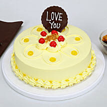 Love You Valentine Butterscotch Cake: Gifts for New Arrival