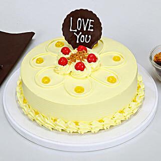 Love You Valentine Butterscotch Cake: