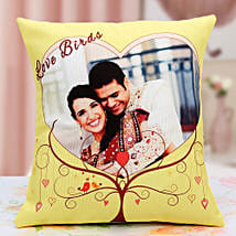 Lovebirds Personalized Cushion: Personalised Cushions for Husband
