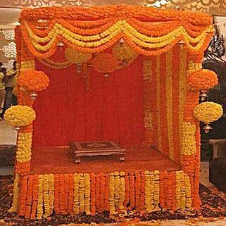Marigold Special Ganpati Decoration: Temple Flower Decorations