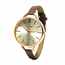 Narrow Brown Strap Watch For Women: Buy Watches