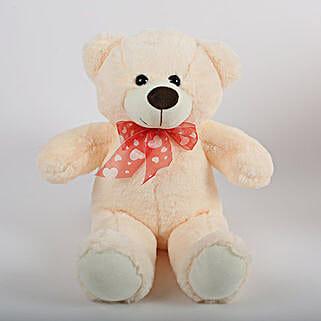 Off White Teddy Bear: Valentines Day Soft toys