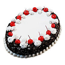 Oval Blackforest Spell 1kg Parent: Cake Delivery in East Sikkim