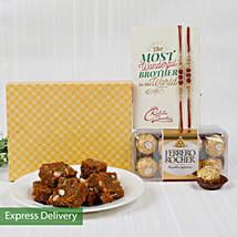 Perfect Rakhi Hamper: Rakhi With Sweets Mumbai
