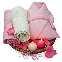 Perfectly Pink Hamper: Cosmetics & Spa Hampers to Your Love