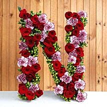 Personal Alphabet Budding Love: Send Personalised Gifts to Ghaziabad