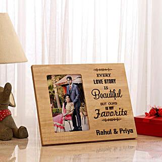 Personalised Beautiful Love Story Photo Frame: Personalised Photo Frames Gifts