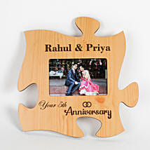 Personalised Engraved Anniversary Puzzle Frame: Photo Frames