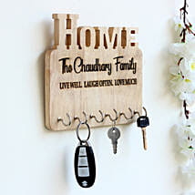 Personalised Engraved Wooden Key Holder: Send Gifts for Men