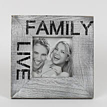 Personalised Family Grey Photo Frame: New Year Personalised Gifts