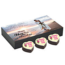 Personalised Hug Day Heart Chocolates: Personalised Photo Frames - Rakhi