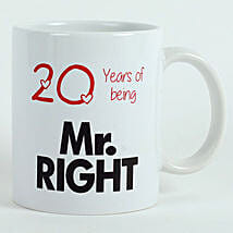 Personalised Mr Right Mug: Send Gifts to Chavakkad