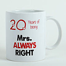 Personalised Mrs Right Mug: Gifts Delivery In Ramamurthy Nagar