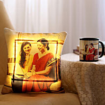 Personalised Mug & LED Cushion Combo For Mom: Personalised gifts for Mother's Day